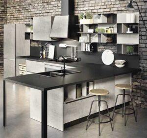 cucina grigia moderna